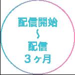 配信開始〜配信3ヶ月